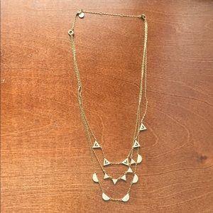 Stella & Dot Pave Necklace - gold